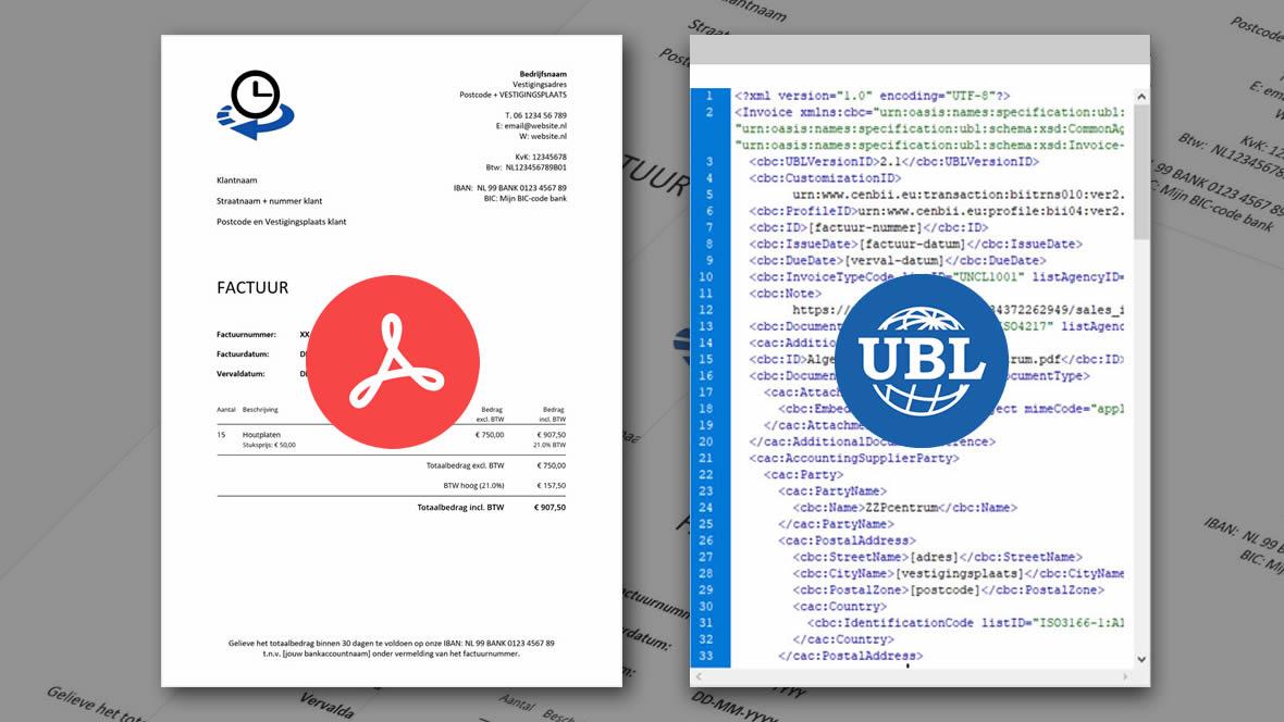 Verstuur de factuur in PDF en UBL