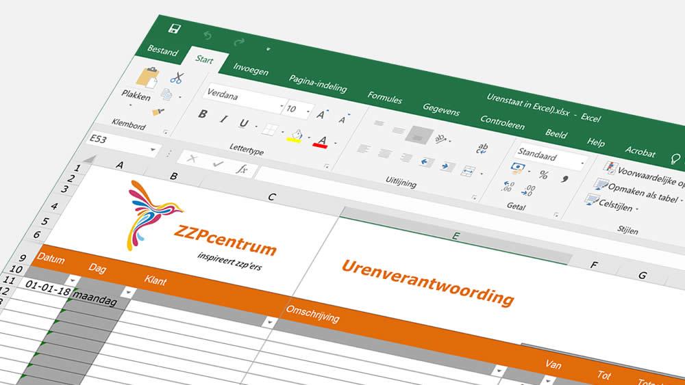 Gratis urenregistratie template Excel