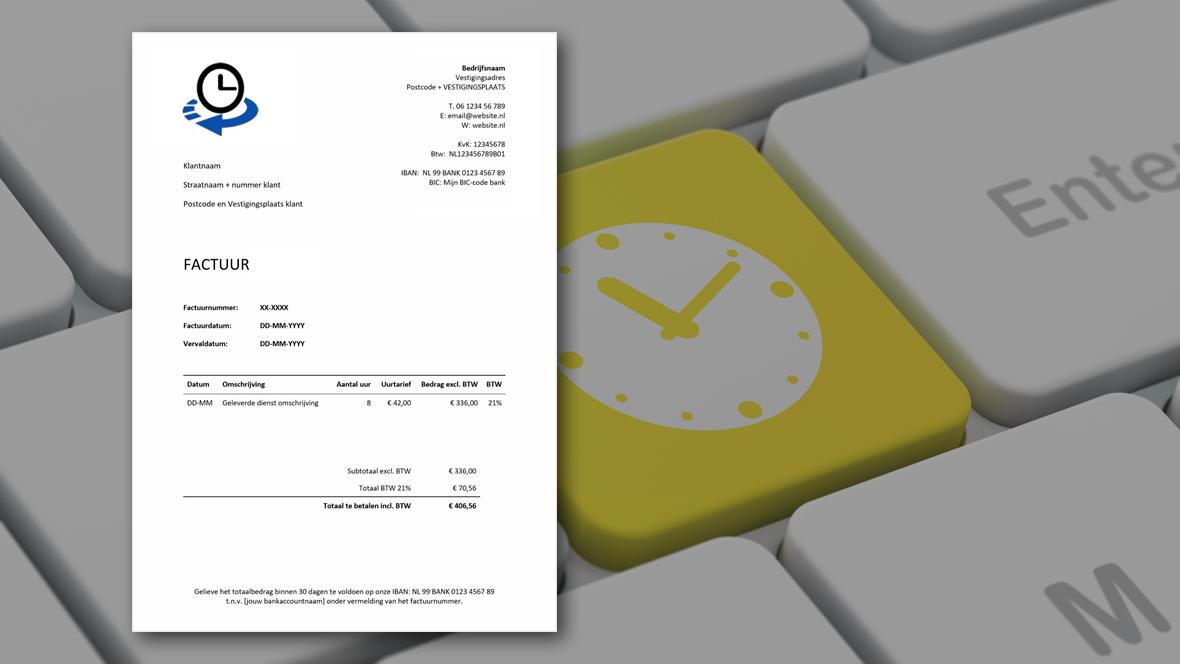 Gewerkte uren factureren met factuurprogramma
