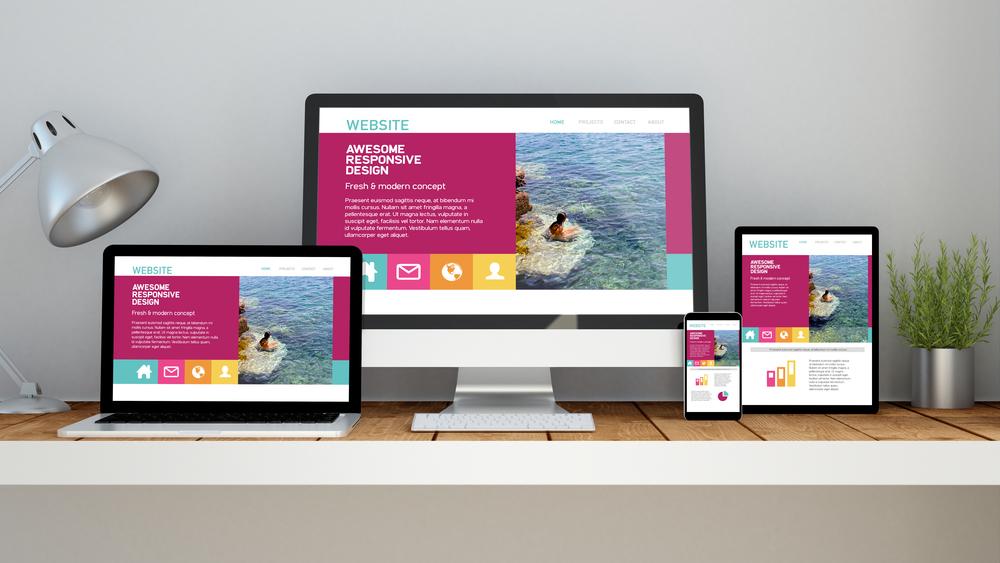 Voorbeeld van website ontworpen door grafisch ontwerper