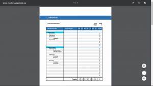Voorbeeld urenregistratie in PDF